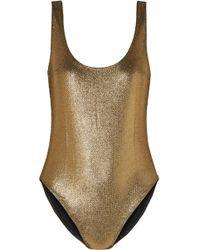 Marie France Van Damme - Milady Nageur Metallic Jacquard Swimsuit - Lyst
