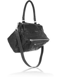 Givenchy - Medium Pandora Washed-leather Shoulder Bag - Lyst