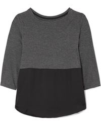 DKNY - Stretch-jersey And Satin Pyjama Top - Lyst