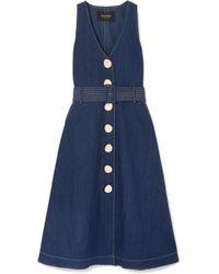Paper London - Wallace Denim Midi Dress - Lyst