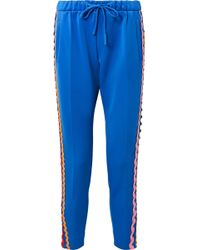 Mira Mikati - Rickrack-trimmed Stretch-cotton Jersey Track Pants - Lyst