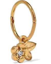 Meadowlark - Alba Gold-plated Diamond Hoop Earring - Lyst