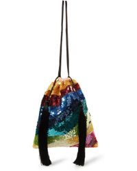 Attico - Tasseled Sequined Tulle Pouch - Lyst