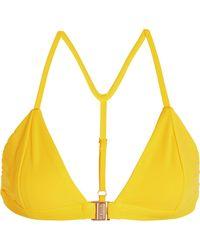 4741401f49 Lyst - Heidi Klein Polynesia Embellished Ribbed Bandeau Bikini Top ...