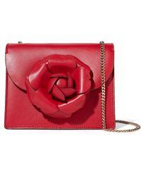Oscar de la Renta - Tro Mini Embellished Leather Shoulder Bag - Lyst