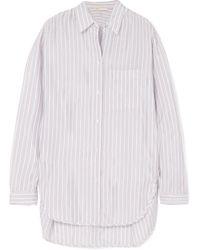 Maje - Celina Striped Satin Shirt - Lyst
