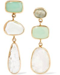 Melissa Joy Manning | 14-karat Gold, Sterling Silver And Multi-stone Earrings | Lyst