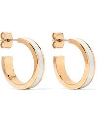 Isabel Marant - Gold-tone And Resin Hoop Earrings - Lyst