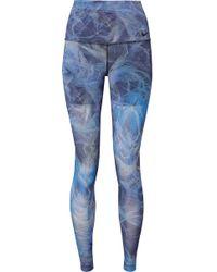 Nike - Power Printed Dri-fit Stretch Leggings - Lyst