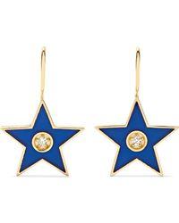 Andrea Fohrman - 18-karat Gold, Diamond And Enamel Earrings - Lyst