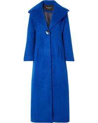 Paper London - Belle Brushed Wool-blend Coat - Lyst