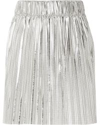 Étoile Isabel Marant - Delpha Plissé-lamé Mini Skirt - Lyst