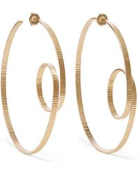 Annie Costello Brown - Circle Scroll Gold Vermeil Hoop Earrings Gold One Size - Lyst