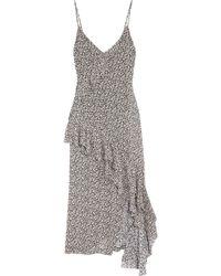 IRO - Asymmetric Ruffled Floral-print Georgette Maxi Dress - Lyst