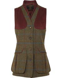 James Purdey & Sons - Alcantara-trimmed Checked Wool-tweed Vest - Lyst