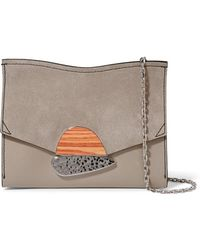 Proenza Schouler - Curl Small Embellished Textured-leather And Suede Shoulder Bag - Lyst