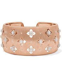Buccellati - Macri Giglio 18-karat Pink And White Gold Diamond Cuff - Lyst