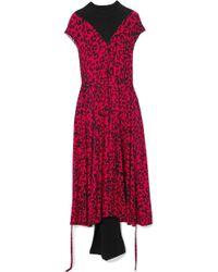 Vetements - Panelled Leopard-print Stretch-jersey Midi Dress - Lyst