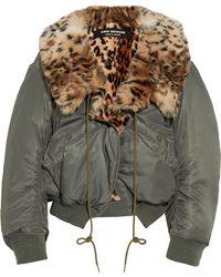 Junya Watanabe - Leopard-print Faux Fur-lined Shell Bomber Jacket - Lyst