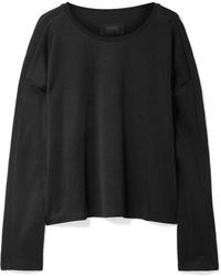MM6 by Maison Martin Margiela - Oversized Stretch-jersey Sweatshirt - Lyst