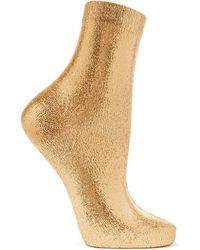 Maria La Rosa Socken Aus Einer Seidenmischung Mit Metallic-beschichtung - Mettallic