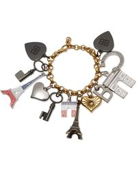 Balenciaga - Gold-tone Charm Bracelet - Lyst