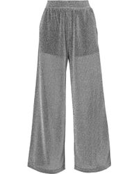 MM6 by Maison Martin Margiela - Lurex Wide-leg Pants - Lyst