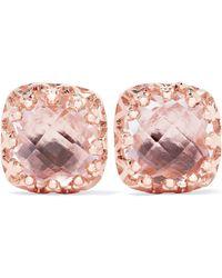 Larkspur & Hawk - Jane Rose Gold-dipped Quartz Earrings - Lyst