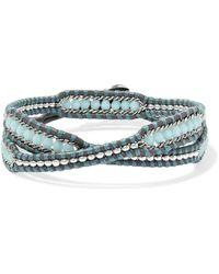 Chan Luu - Crystal-embellished Leather Wrap Bracelet - Lyst
