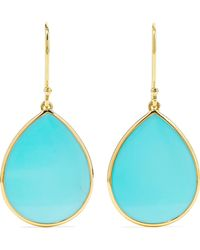 Ippolita - Polished Rock Candy Mini 18-karat Gold Turquoise Earrings - Lyst