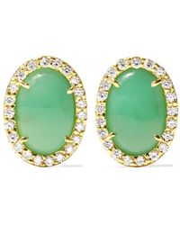 Kimberly Mcdonald - 18-karat Gray Gold, Turquoise And Diamond Earrings - Lyst