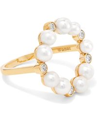 Anissa Kermiche - Rond De Perle 18-karat Gold, Diamond And Pearl Ring Gold 7 - Lyst