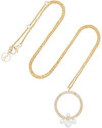 Anissa Kermiche - Pompadour 14-karat Gold, Diamond And Pearl Necklace - Lyst