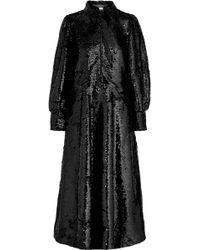 Ganni - Sonora Sequined Crepe Midi Dress - Lyst