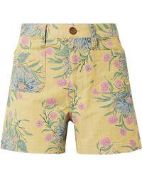 Madewell - Emmett Floral-print Cotton-blend Twill Shorts - Lyst