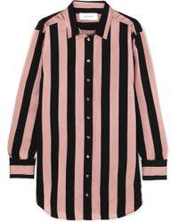 Marques'Almeida - Embellished Striped Satin-twill Shirt - Lyst