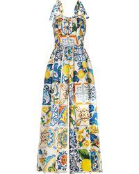 Dolce & Gabbana - Maiolica Printed Poplin Jumpsuit - Lyst
