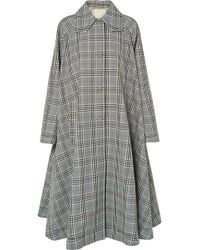 MM6 by Maison Martin Margiela - Oversized Checked Wool-blend Coat - Lyst