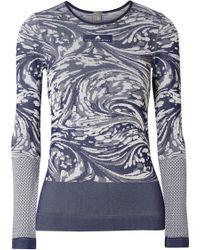 Adidas By Stella McCartney   Cutout Stretch Jacquard-knit Top   Lyst