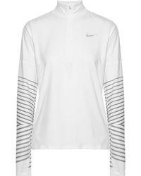 Nike - Flash Element Metallic Striped Dri-fit Stretch Top - Lyst