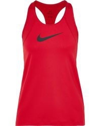 Nike - Pro Cool Printed Dri-fit Stretch-mesh Tank - Lyst