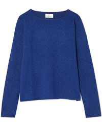 Allude - Metallic Wool And Cashmere-blend Jumper - Lyst