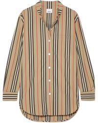 c88425c5e832a2 Burberry - Striped Cotton-poplin Shirt - Lyst