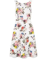 Erdem - Maia Floral-print Cotton-poplin Dress - Lyst