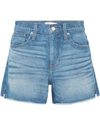 Madewell - The Vintage Perfect Frayed Denim Shorts - Lyst