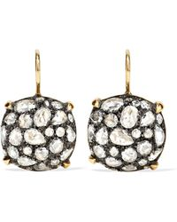 Fred Leighton - Collection 18-karat Gold, Sterling Silver And Diamond Earrings - Lyst