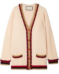 Gucci - Oversized Wool And Cashmere-blend Cardigan - Lyst