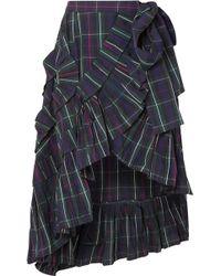 J.Crew - Ruffled Plaid Shell Wrap Skirt - Lyst