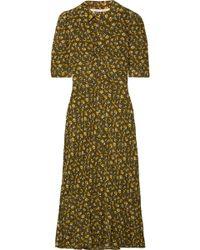 Veronica Beard - Pike Floral-print Silk Crepe De Chine Midi Dress - Lyst
