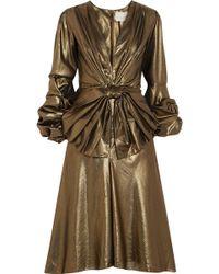 Johanna Ortiz - Bow-embellished Lamé Dress - Lyst
